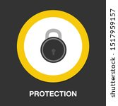 lock icon  vector padlock  ... | Shutterstock .eps vector #1517959157