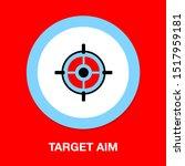 target aim icon  vector target... | Shutterstock .eps vector #1517959181