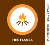 Vector Fire Flames Sign...