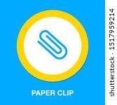 paper clip sign  attachment... | Shutterstock .eps vector #1517959214