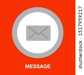 message icon  envelope... | Shutterstock .eps vector #1517959217