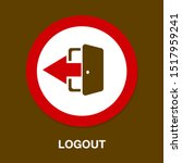 vector logout icon   exit sign... | Shutterstock .eps vector #1517959241