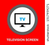 tv icon  vector television... | Shutterstock .eps vector #1517959271