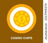 dollar icon   vector casino... | Shutterstock .eps vector #1517959274