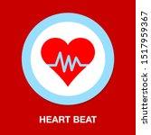 heartbeat symbol  ecg or ekg... | Shutterstock .eps vector #1517959367