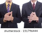 clapping hands for welcome and... | Shutterstock . vector #151796444