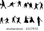 sword fight silhouettes | Shutterstock .eps vector #1517973