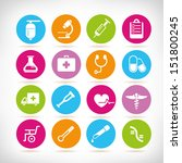 medical icon set  round button... | Shutterstock .eps vector #151800245