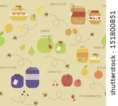 cute seamless pattern with... | Shutterstock .eps vector #151800851