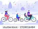 family cycling flat vector... | Shutterstock .eps vector #1518016484