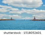 Port Harbor Entrance With...
