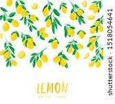 vector illustration of lemon.... | Shutterstock .eps vector #1518054641
