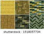 set wood herringbone floor...