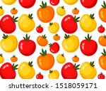 pattern with tomatoes. autumn... | Shutterstock . vector #1518059171