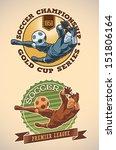 vintage styled soccer champs... | Shutterstock .eps vector #151806164