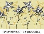 double columbine flowers.... | Shutterstock .eps vector #1518070061
