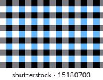 A blue, white, black and gray checkerboard pattern - stock photo