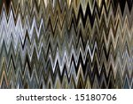 Nested triangles in a vertical pattern - stock photo