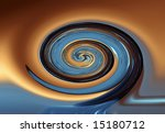 Swirl pattern on a blended background - stock photo