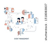 event management concept with... | Shutterstock .eps vector #1518083837