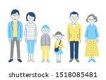 three generation family...   Shutterstock . vector #1518085481