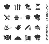 vector set of cooking icons. | Shutterstock .eps vector #1518086924