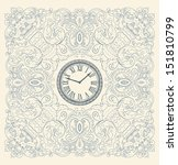 retro card  floral elements and ...   Shutterstock .eps vector #151810799