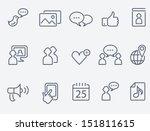 social media icons | Shutterstock .eps vector #151811615