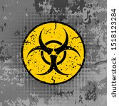 vector beware bio hazard sign... | Shutterstock .eps vector #1518123284