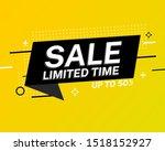 sale banner template design.... | Shutterstock .eps vector #1518152927