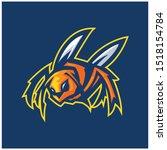 hornet bee mascot logo gaming...   Shutterstock .eps vector #1518154784
