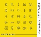 healthcare icons set with neck  ...