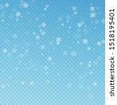 sparse snowfall christmas... | Shutterstock .eps vector #1518195401