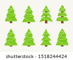 winter collection of christmas... | Shutterstock .eps vector #1518244424
