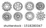 illustration of technology set. ... | Shutterstock . vector #1518280367