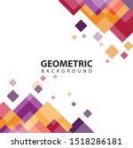 geometric background vectors 10 ... | Shutterstock .eps vector #1518286181