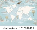 3d Wallpaper World Map Design...