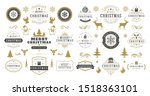 christmas and happy new year... | Shutterstock .eps vector #1518363101