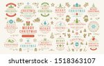 christmas and happy new year... | Shutterstock .eps vector #1518363107