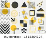 set of vector geometric shapes... | Shutterstock .eps vector #1518364124
