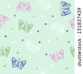butterflies seamless | Shutterstock .eps vector #151837439