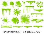 green cartoon slime. goo blob... | Shutterstock .eps vector #1518376727