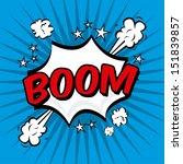 boom comics icon over blue... | Shutterstock .eps vector #151839857