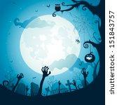 halloween illustration  ... | Shutterstock .eps vector #151843757