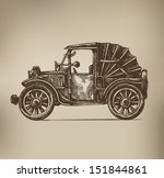 vintage car | Shutterstock .eps vector #151844861