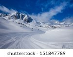 Fresh Ski Slope And Mountains...