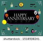 happy anniversary  beautiful... | Shutterstock .eps vector #1518508241
