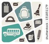 school theme background | Shutterstock .eps vector #151851179
