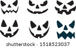 icon ghost face set halloween | Shutterstock .eps vector #1518523037