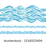 ocean wave pattern isolated on... | Shutterstock .eps vector #1518525404